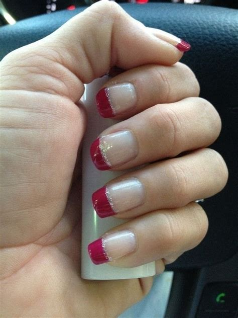 Cute Colored Tip Manicure · How To Paint A French Tip