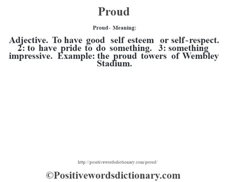 Proud definition | Proud meaning - Positive Words Dictionary