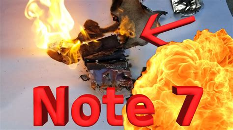 Note 7 Battery Explosion!! CAUGHT LIVE ON CAMERA!! - YouTube