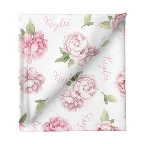 Personalized Baby Girl Swaddle | Unique Baby Blankets for