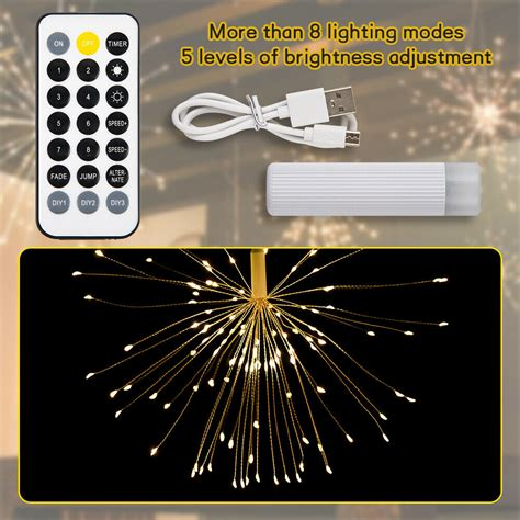 480 LED Firework Fairy String Lights Curtain Window Party