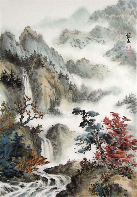 40 Deep Yet Majestic Chinese Landscape Painting Ideas