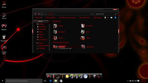 Alienware red theme for Win10 - Skin Pack Theme for Windows 10