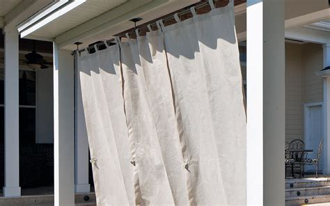 Choosing and Hanging Outdoor Curtains - The Home Depot