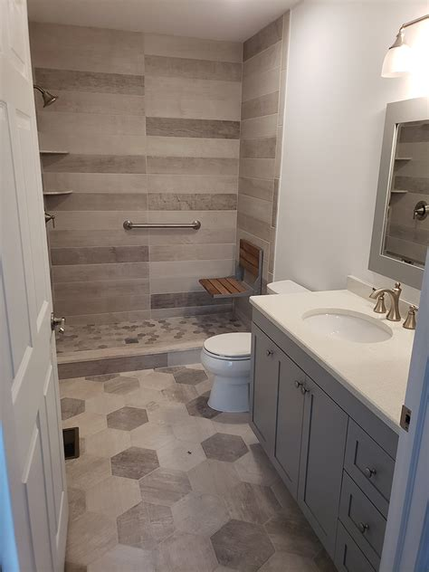 Folding Bench Seat for a Shower - Design Build Planners