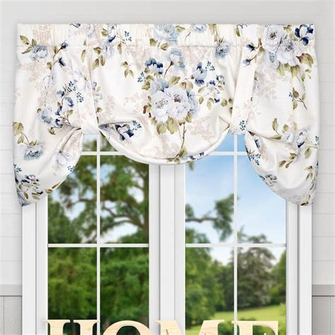 """Chatsworth Floral Lined Tie-up 50"""" Window Valance"""