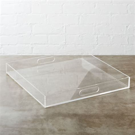format clear square tray | CB2