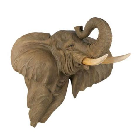 ELEPHANT Head Wall Decor LARGE and Exotic Statue FIGURINE