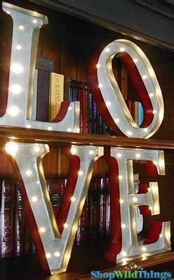 Lighted Love Sign, Vintage Marquee Letters Lighted Sign