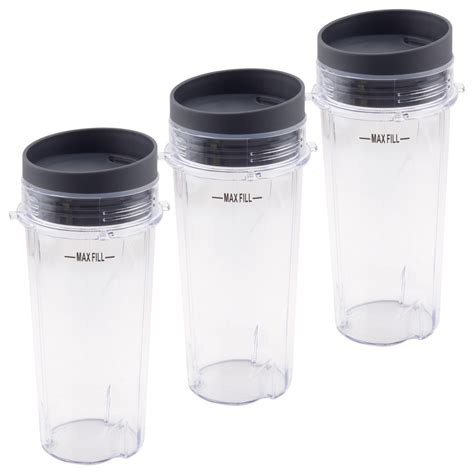 3 Pack 16 oz Cups with To-Go Lids Replacement Part Model