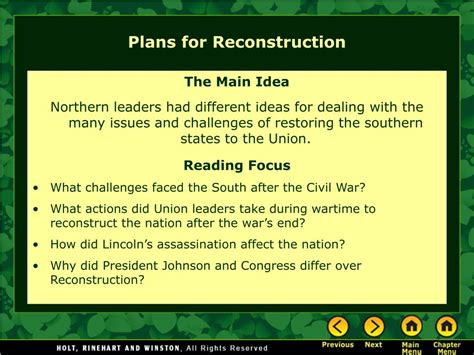 PPT - Chapter 12 – Reconstruction PowerPoint Presentation