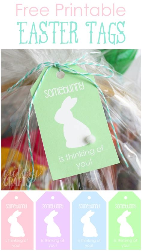 Easter Basket for Mom with Printable Easter Tags - Cutesy