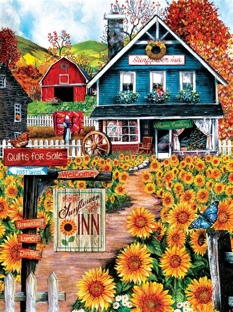 At the Sunflower Inn, 1000 Pieces, SunsOut | Puzzle Warehouse
