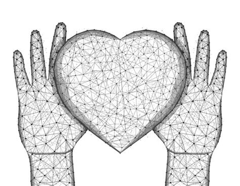 Best Two Hearts Joined Together Drawing Illustrations