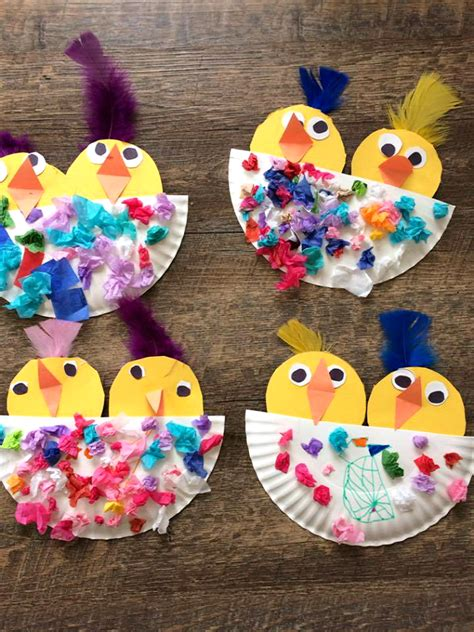 Chick Craft in a Paper Plate Nest - Crafty Morning