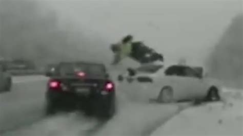 Utah Trooper Hit By Sliding Car, Thrown Into the Air on