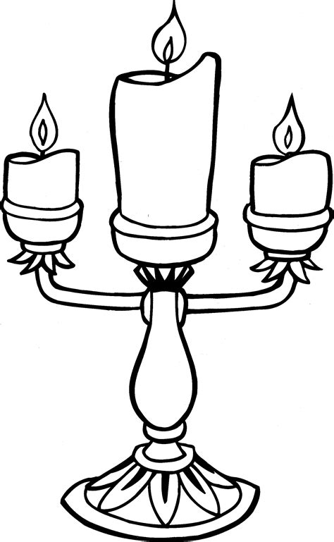 Candle coloring pages to download and print for free