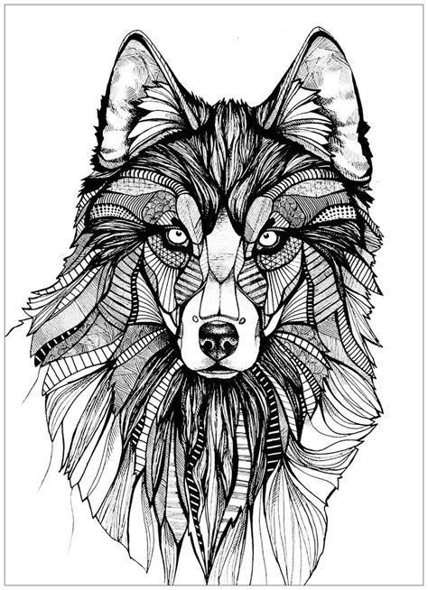 Wolf Coloring Pages for Adults - Best Coloring Pages For