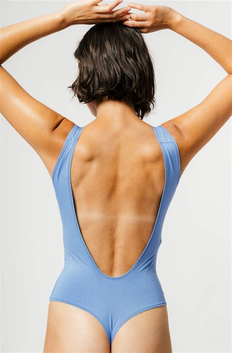 Mary Young Backless Thong Bodysuit - Cornflower   Garmentory