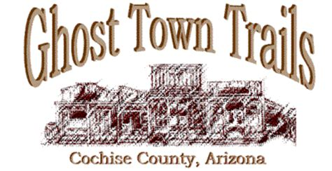 Ghost Town Trails Map, Cochise County, Arizona