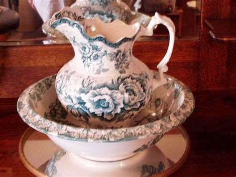 Large victorian pitcher and bowl   Antique pitcher