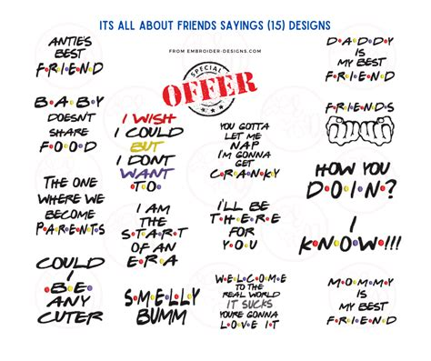 Its all About Friends Sayings (15) Designs | Embroider Designs