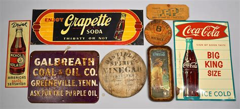 Lot 858: 8 Vintage Advertising Signs inc