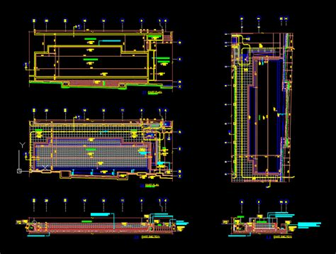 Swimming pool and details in AutoCAD | CAD download (896