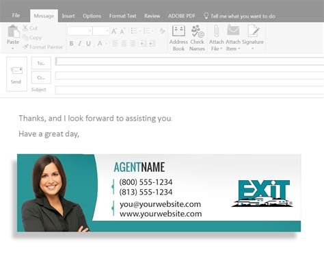 Business Card Email Signature | Exit Realty Business Cards