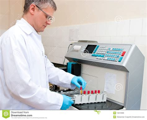 Blood Test Laboratory Worker Stock Photo - Image of works