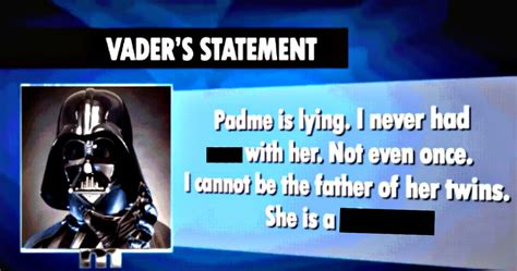 Results of Darth Vader's Maury Paternity Test Have Been
