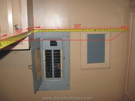 House Electrical Panel in the Bathroom and Clothes Closet