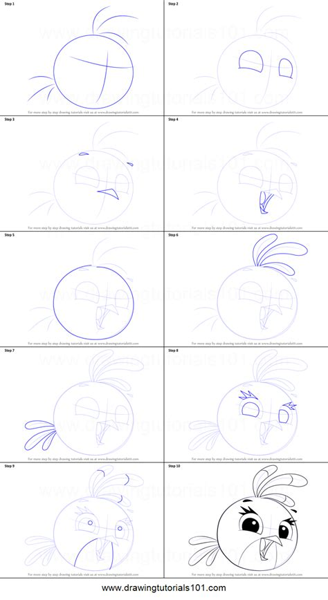 How to Draw Stella from Angry Birds printable step by step