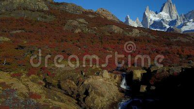 Waterfall In Patagonia, Chile Stock Footage - Video of