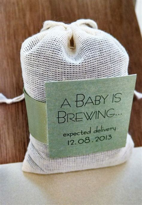 A Baby is Brewing Tea Bag Baby Shower Favor Sets of 9