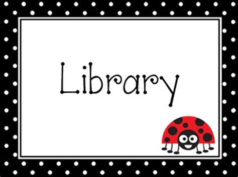 Polka-Dot Ladybug Pre-K Learning Center Signs by THE Polka