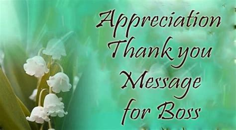 Appreciation Thank you Message for Boss