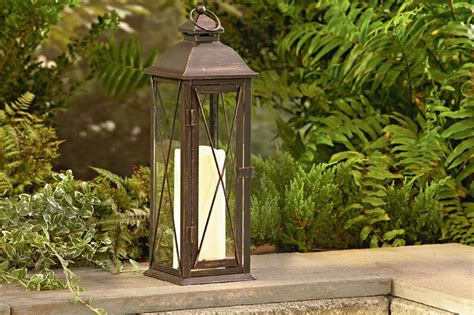 Extra Large Lantern With LED Candles - Outdoor Living