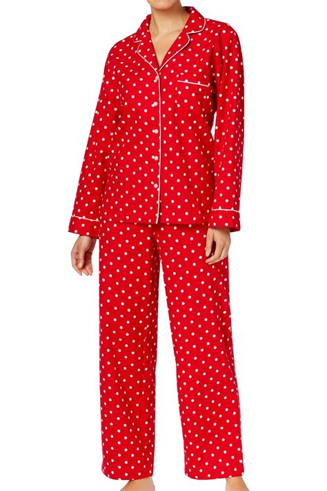 Charter Club Intimates Candy-Red Dot-Printed Cotton