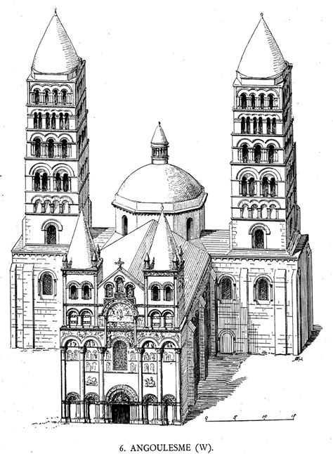 Medieval Angoulême -Plans and Drawings