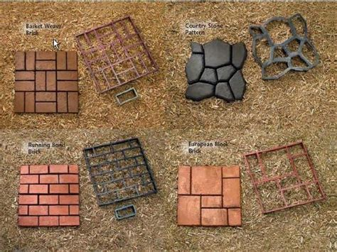 Concrete molds, for stepping stones and walkways