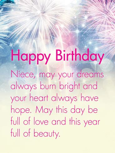 Your Heart Always Have Hope - Happy Birthday Wishes Card