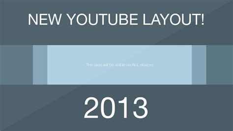 YouTube One Channel Template Layout [DOWNLOAD] - Free 2013