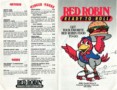 RED ROBIN :: ' READY - TO - ROLL '; Take-out menu i (( 198