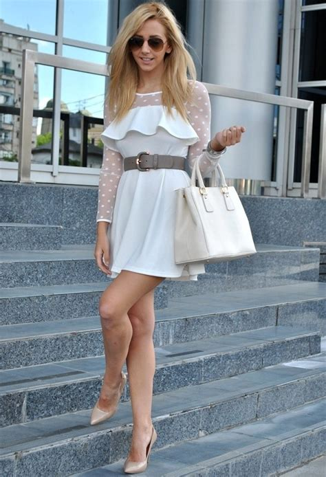 16 Gorgeous White Dress Outfit Ideas for Spring/ Summer