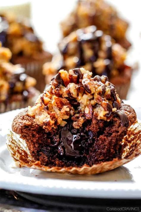 German Chocolate Cupcakes made 1000X better with GANACHE