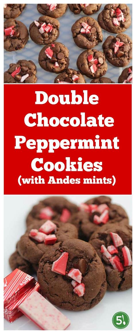 Easy Double Chocolate Peppermint Cookies   Five Silver Spoons