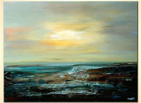 Painting for sale - abstract seascape freedom sky sunshine