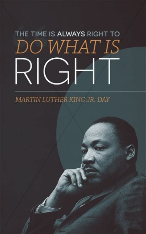Martin Luther King Jr Day Ministry Bulletin