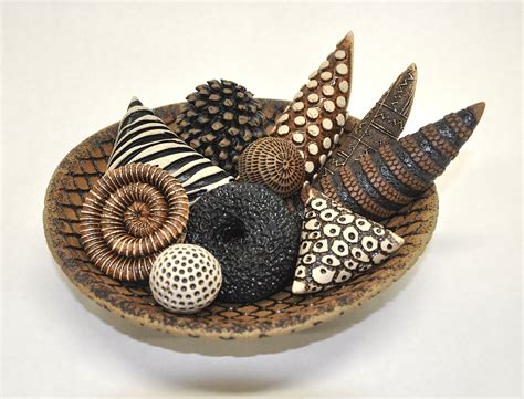 Bowls and Rattles II by Kelly Jean Ohl (Ceramic Sculpture
